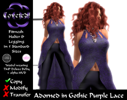 Adorned in Gothic Purple Lace
