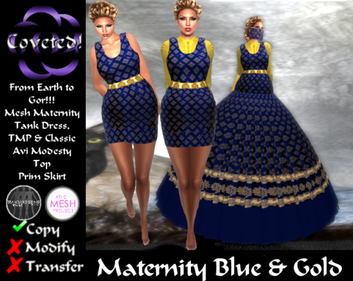 Maternity Blue & Gold